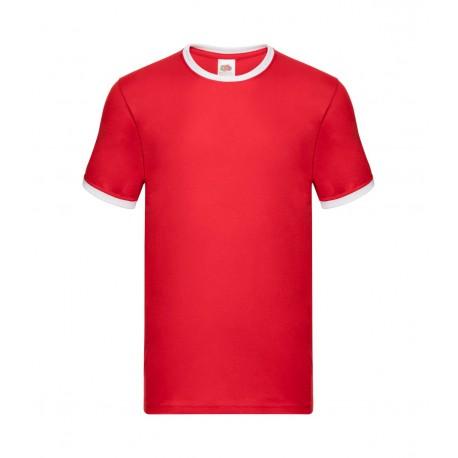 FotL Men Ringer 165g - CZERWONO-BIAŁA GRAPHITE - koszulka męska