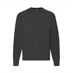 Fruit of the Loom MEN Raglan Sweat 280g - CZARNA (36) - bluza męska (62-216)
