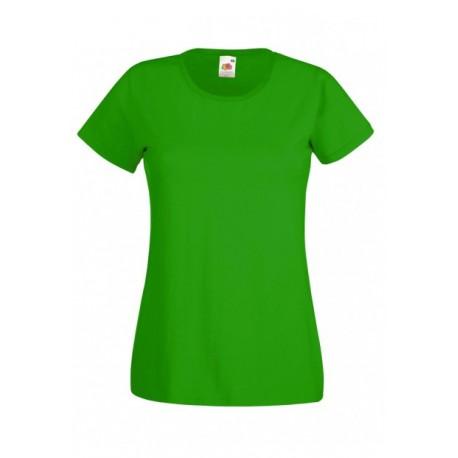 Koszulka damska ZIELONA (KELLY GREEN) - Fruit of the Loom (Valueweight) 165g