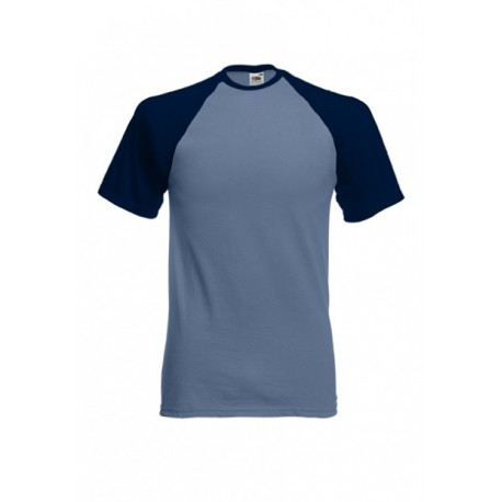FotL Men Baseball 165g - STALOWO-GRANATOWA - koszulka męska