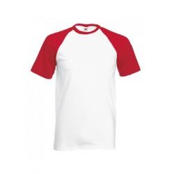 FotL Men Baseball 165g - BIAŁO-CZERWONA - koszulka męska