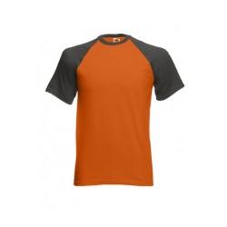 FotL Men Baseball 165g - POMARAŃCZ.-LIGHT GRAPHITE - koszulka męska