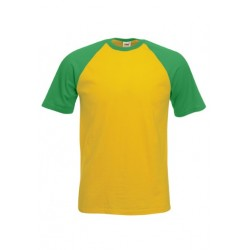FotL Men Baseball 165g - ŻÓŁTO-ZIELONA (AM) - koszulka męska (61-026)