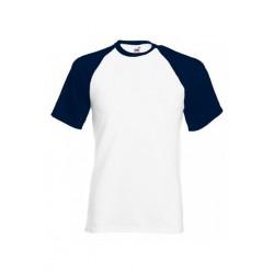 FotL Men Baseball 165g - BIAŁO-GRANATOWA - koszulka męska