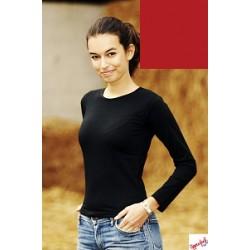 Koszulka damska CZERWONA - Upperdeck Clara LS 220g