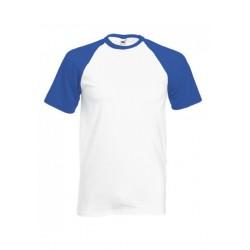 FotL Men Baseball 165g - BIAŁO-NIEBIESKA (AW) - koszulka męska (61-026)
