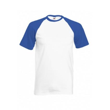 FotL Men Baseball 165g - BIAŁO-NIEBIESKA (AW) - koszulka męska