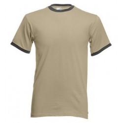 FotL Men Ringer 165g - KHAKI-LIGHT GRAPHITE - koszulka męska