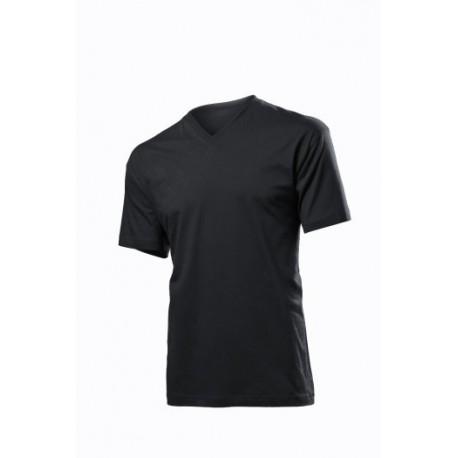 Koszulka męska CZARNA - Stedman V-NECK 155g