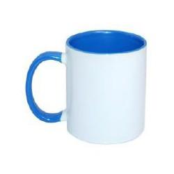 Kubek sublimacyjny niebieski klasy AAA+++ (uszko, wnętrze i oblamówka) POD ZMYWARKI 360 ml