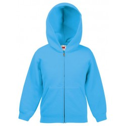 Fruit of the Loom Hooded Sweat Jacket 280g - LAZUROWA (ZU) - bluza dziecięca z kapturem i zamkiem (62-045)