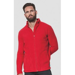 Stedman Active Fleece Jacket Men 220g - CZERWONY - polar męski
