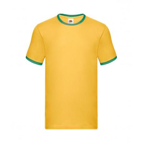 FotL Men Ringer 165g - ŻÓŁTO-ZIELONA - koszulka męska