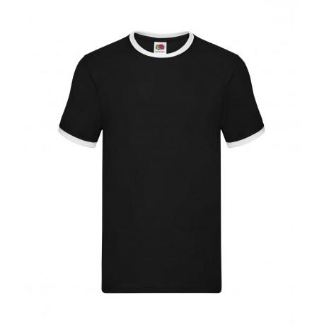FotL Men Ringer 165g - CZARNO-BIAŁA GRAPHITE - koszulka męska